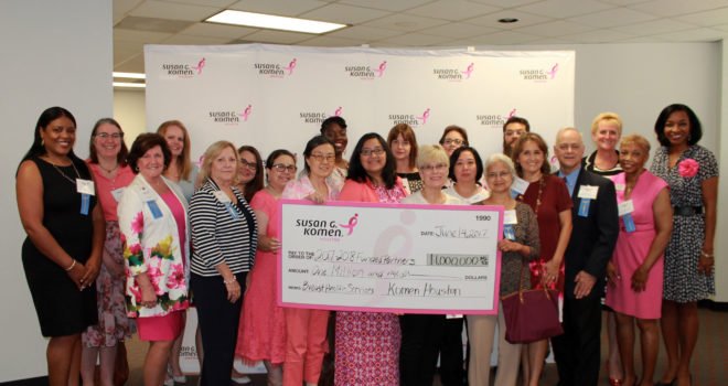 SUSAN G. KOMEN® HOUSTON AWARDS $1 MILLION IN NEW COMMUNITY GRANTS FOR LOCAL BREAST CANCER SERVICES